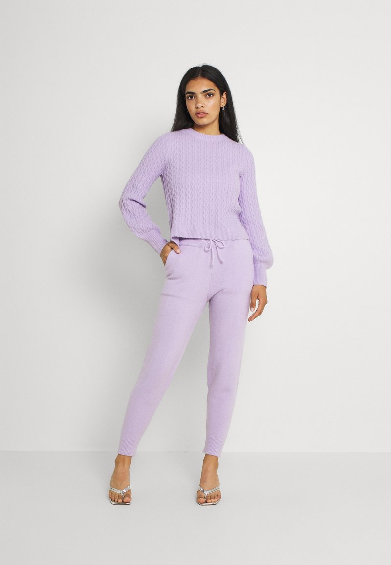 Missguided - TEXTURED JUMPER AND JOGGER SET - Jumper - lilac