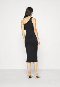 Gina Tricot - JOLINE ONE SHOULDER DRESS - Jersey dress - black - 2