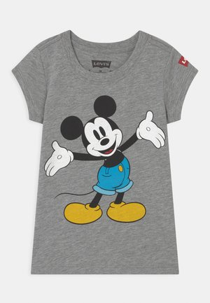 MICKEY MOUSE HAPPY - T-shirts med print - grey heather