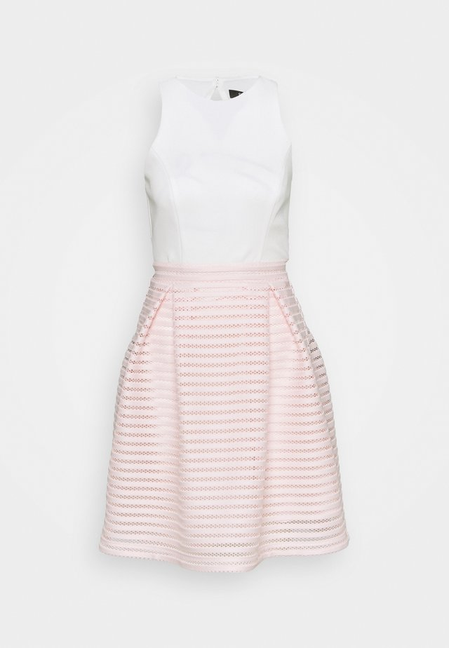 Cocktail dress / Party dress - peach blush/ivory