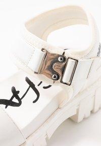 Buffalo - VEGAN JOJO - Platform sandals - white - 2