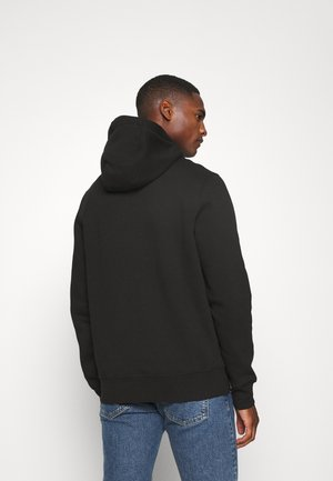 BASIC FLAG HOODY - Sweat à capuche - black