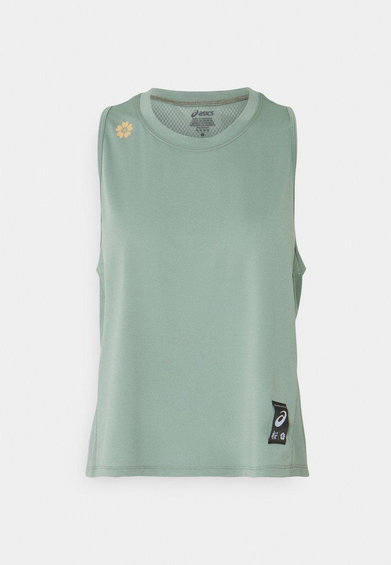 ASICS - SAKURA TANK - Top - slate grey