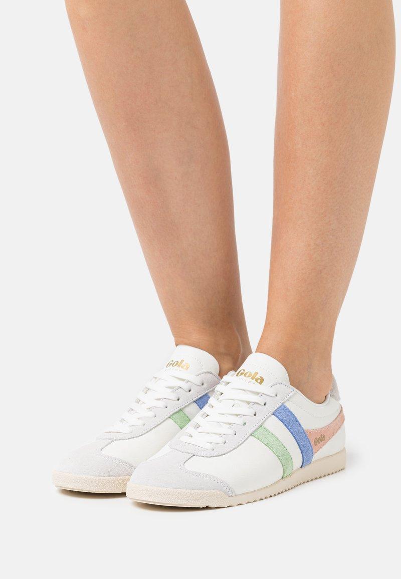Gola - BULLET TRIDENT - Sneakersy niskie - white/patina green/vista blue