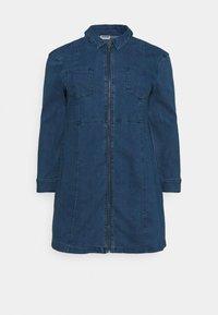 Noisy May Curve - NMLISA ZIP DRESS - Denim dress - medium blue denim - 5