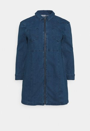 NMLISA ZIP DRESS - Denim dress - medium blue denim