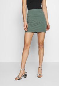 Even&Odd - 2 PACK - Mini skirt - khaki/black - 3