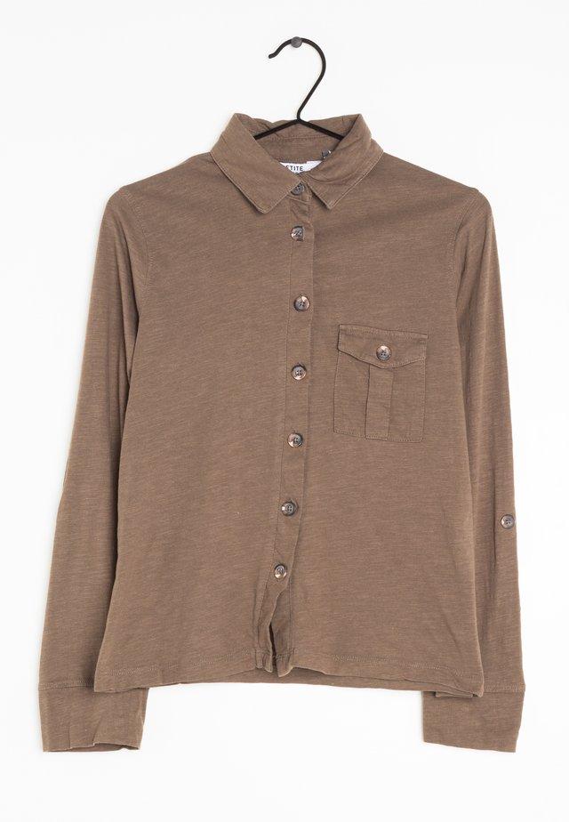 Overhemdblouse - Brown