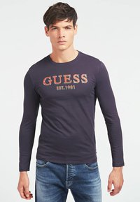 Guess - BRAKE - Long sleeved top - mehrfarbig, grundton blau - 0