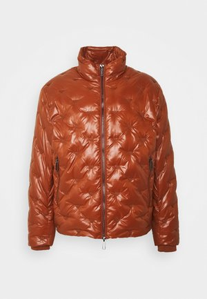 Down jacket - cognac