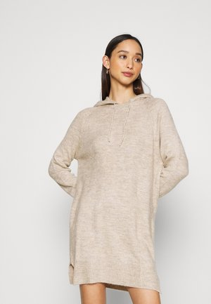 JDYANNE HOOD DRESS - Jumper dress - beige melange