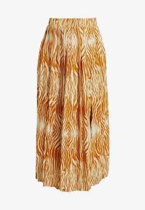 OBJLEANDRA SKIRT - A-line skirt - humus/wood