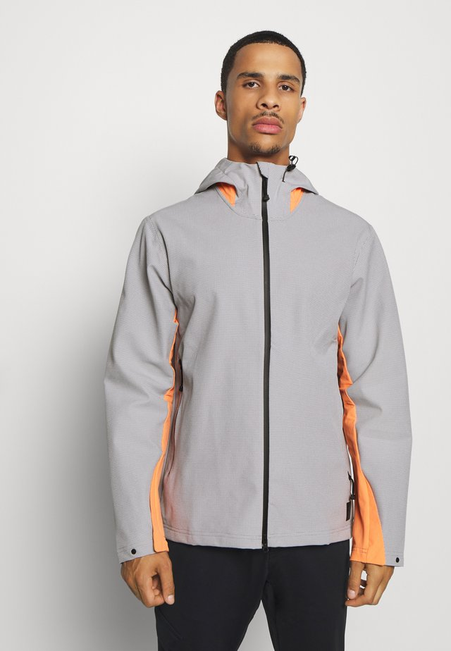 ADICROSS ELEMENT JACKET - Veste imperméable - grey three/amber tint