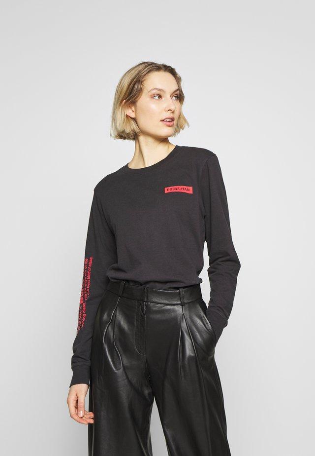 ARTWORK TEE - Maglietta a manica lunga - black