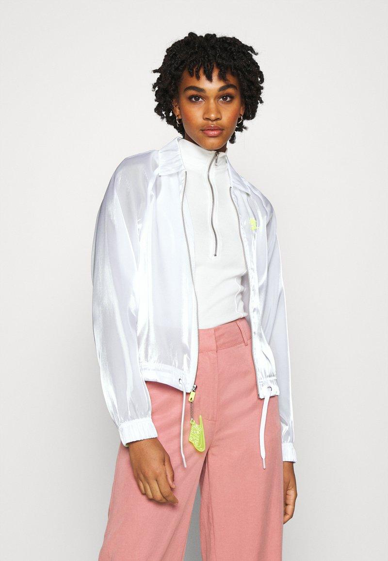 Nike Sportswear - AIR SHEEN - Summer jacket - white/volt