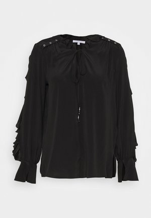 NEW VOLANT - Blouse - nero
