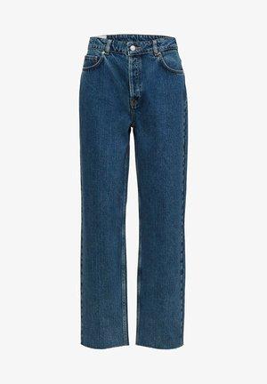 STRAIGHT FIT HIGH WAIST - Straight leg jeans - medium blue denim