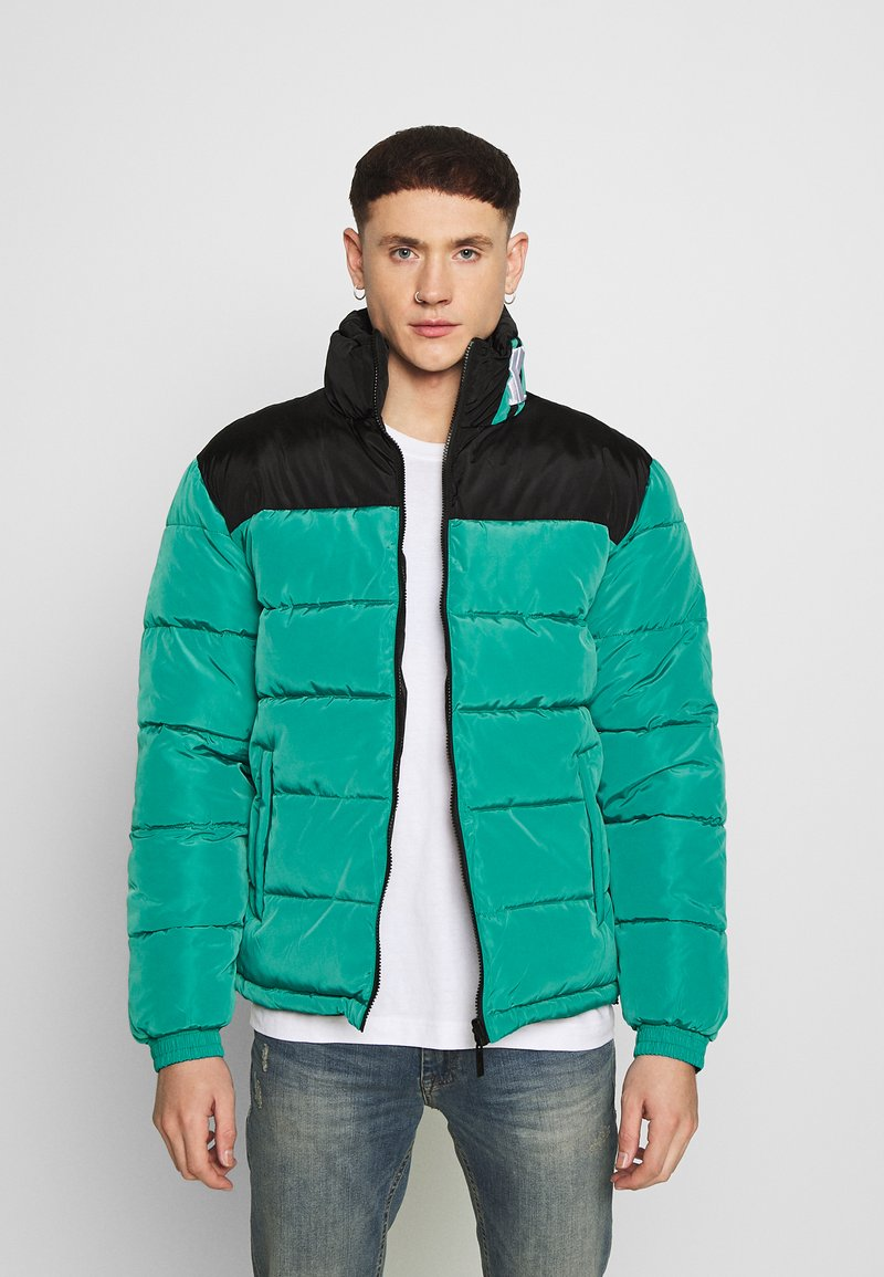 Karl Kani - BLOCK REVERSIBLE PUFFER JACKET - Winter jacket - turquoise