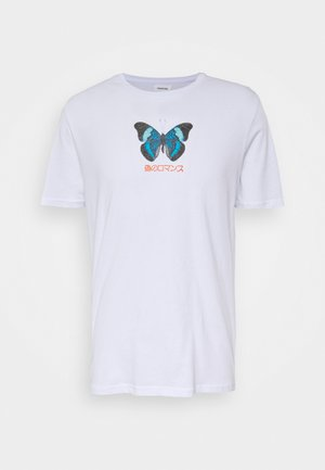 UNISEX BUTTERFLY TEE - Print T-shirt - white