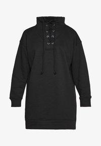 Missguided Petite - LACE UP MINI DRESS - Vestido informal - black - 3