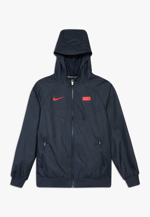 FRANKREICH - Training jacket - dark obsidian/university red