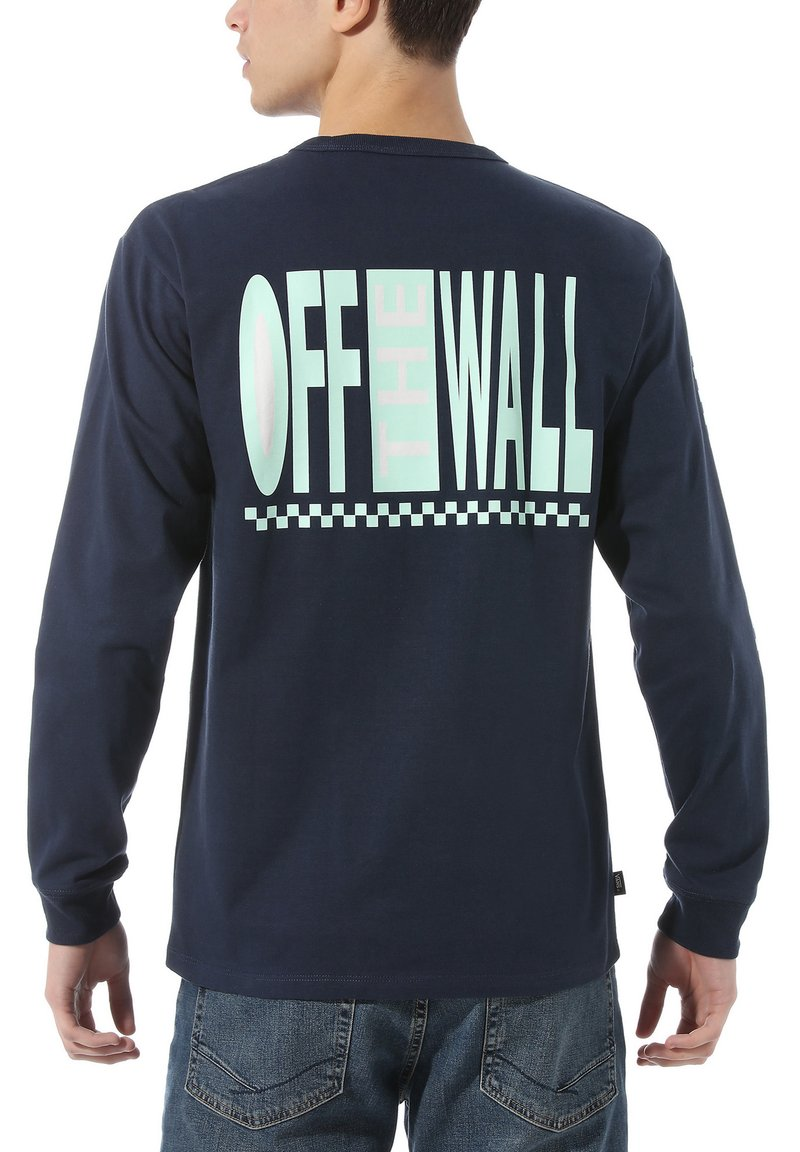 Vans - MN OFF THE WALL CLASSIC GRAPHIC LS - T-shirt - bas - dress blues