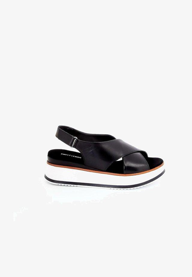 BELO - Sandalen met plateauzool - black