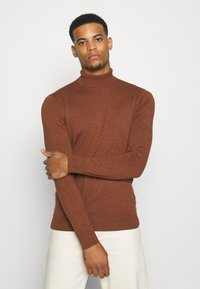 Burton Menswear London - FINE GAUGE ROLL  - Pullover - ginger - 0