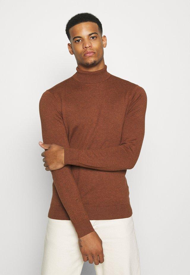 FINE GAUGE ROLL  - Pullover - ginger