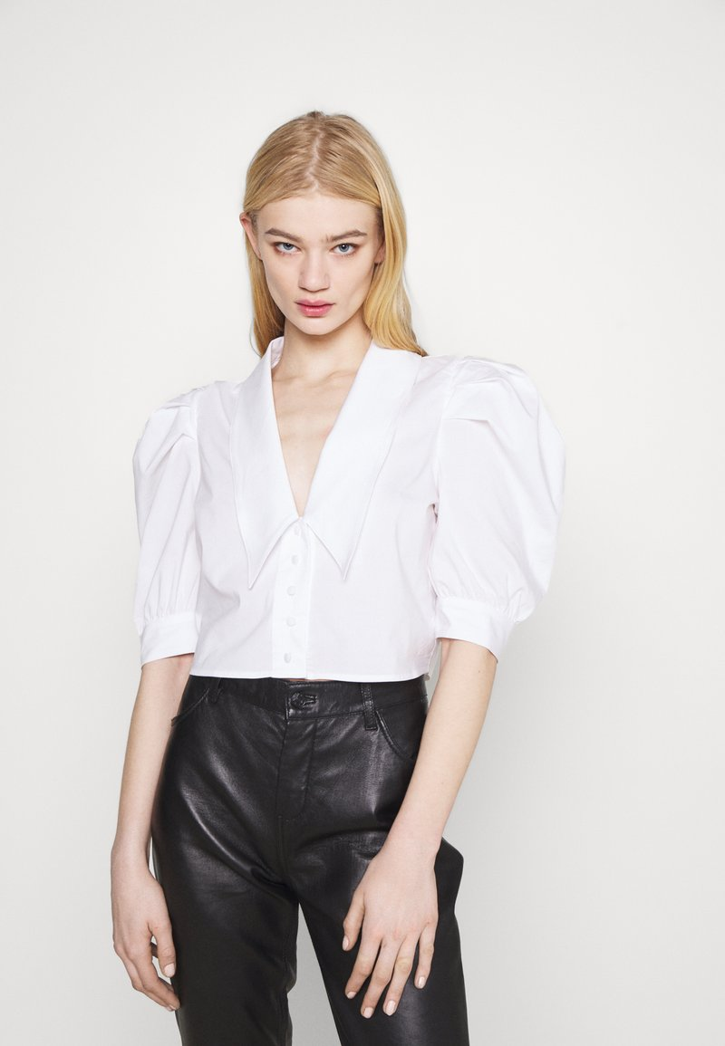 Gina Tricot - SALENA BLOUSE - Button-down blouse - white