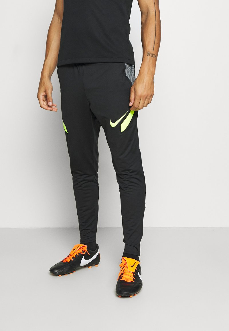 Nike Performance - DRY STRIKE PANT - Pantalones deportivos - black/smoke grey/black/volt