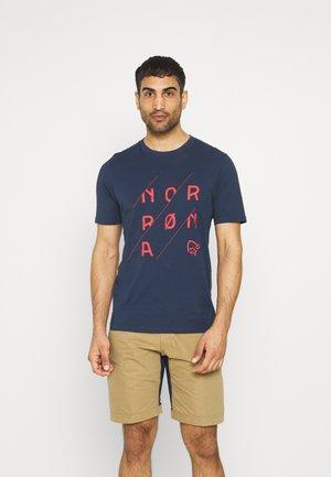 SLANT LOGO  - Print T-shirt - indigo night