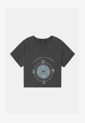 LA LUNE COSMIC GRAPHIC - Camiseta estampada - dark grey