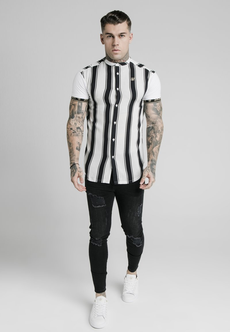 SIKSILK - Shirt - black/white