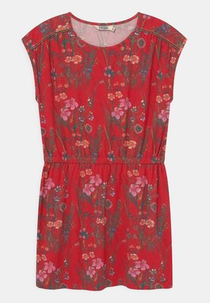 FLORAL TIE WAIST - Jersey dress - red