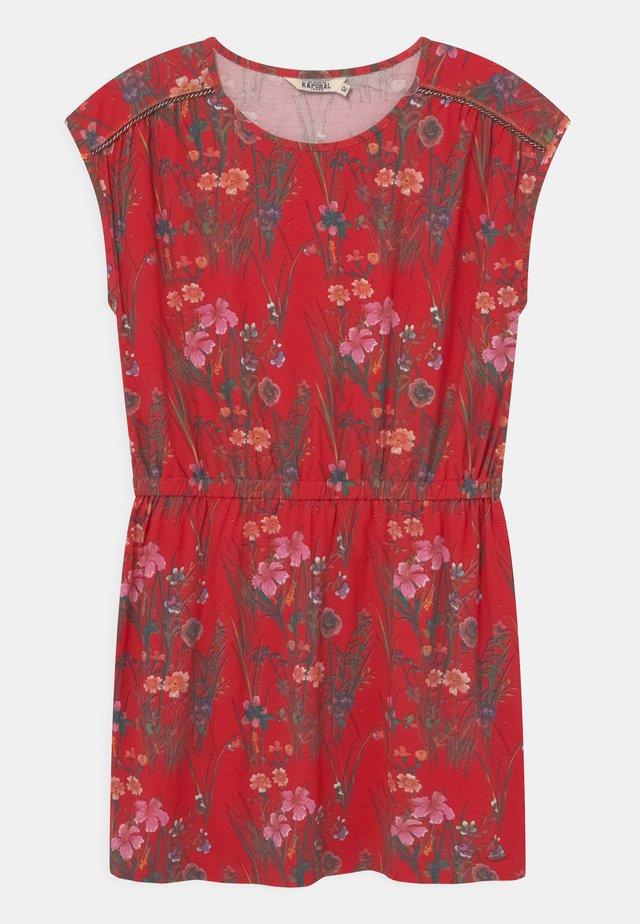 FLORAL TIE WAIST - Vestido ligero - red