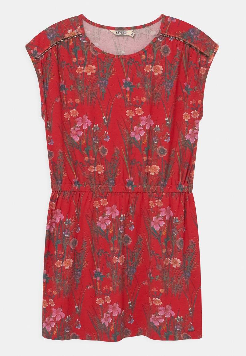 Kaporal - FLORAL TIE WAIST - Žerzejové šaty - red