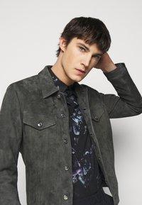 Paul Smith - GENTS - Leather jacket - dark grey - 4