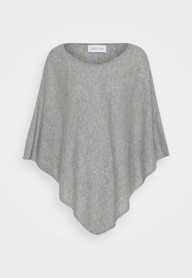 TRIANGLE PONCHO - Cape - light grey