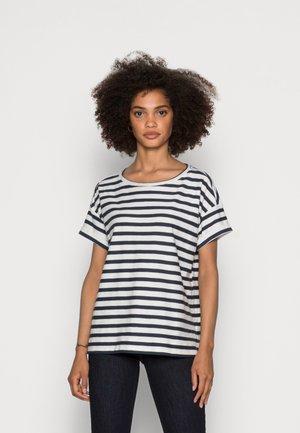 COO STRIPE - Print T-shirt - navy