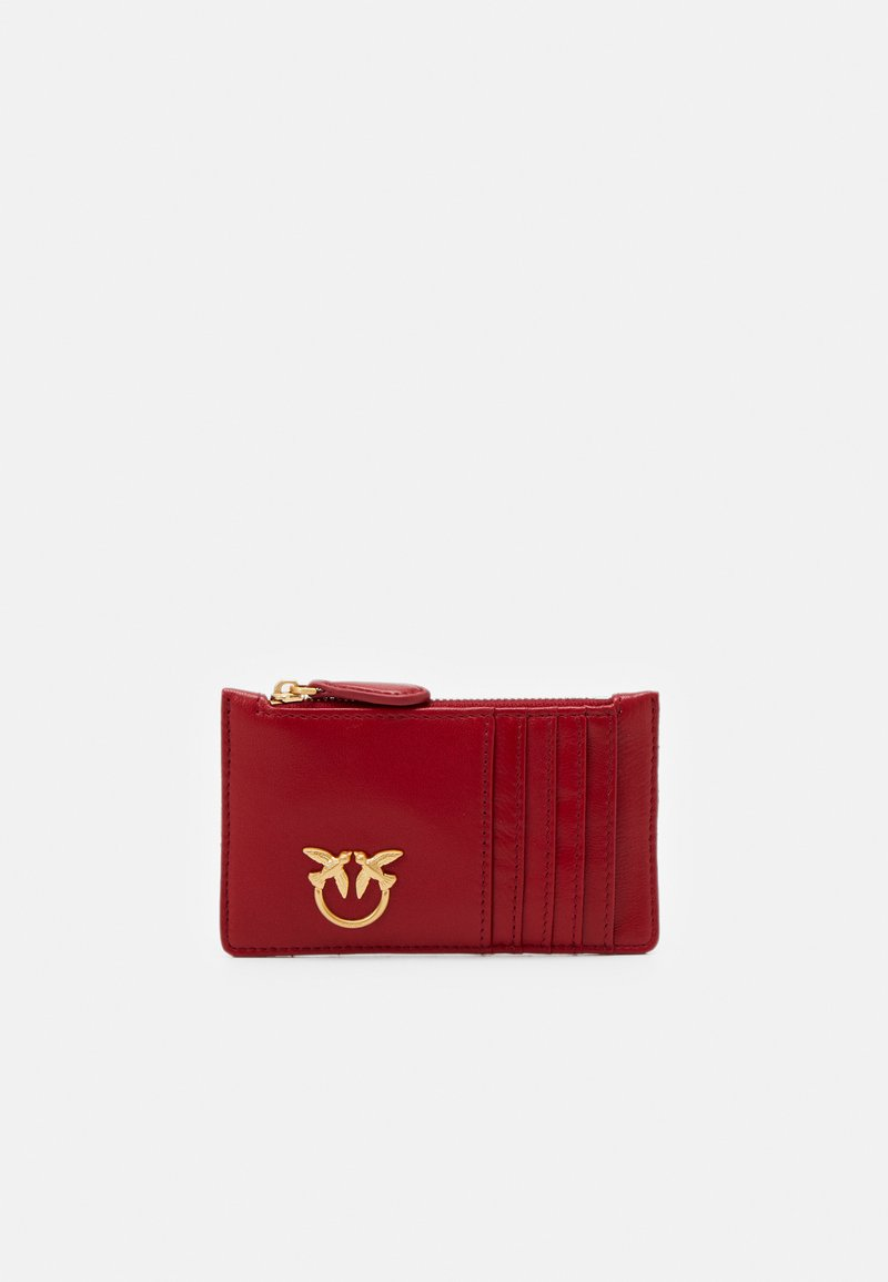 Pinko - AIRONE CREDIT CARD HOLDER TRAPUNTATA CHEVRONNE - Wallet - ruby red