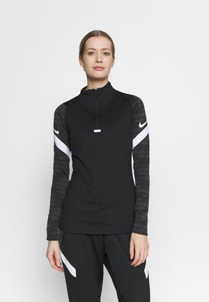 DRY STRIK - Sports shirt - black/anthracite/white