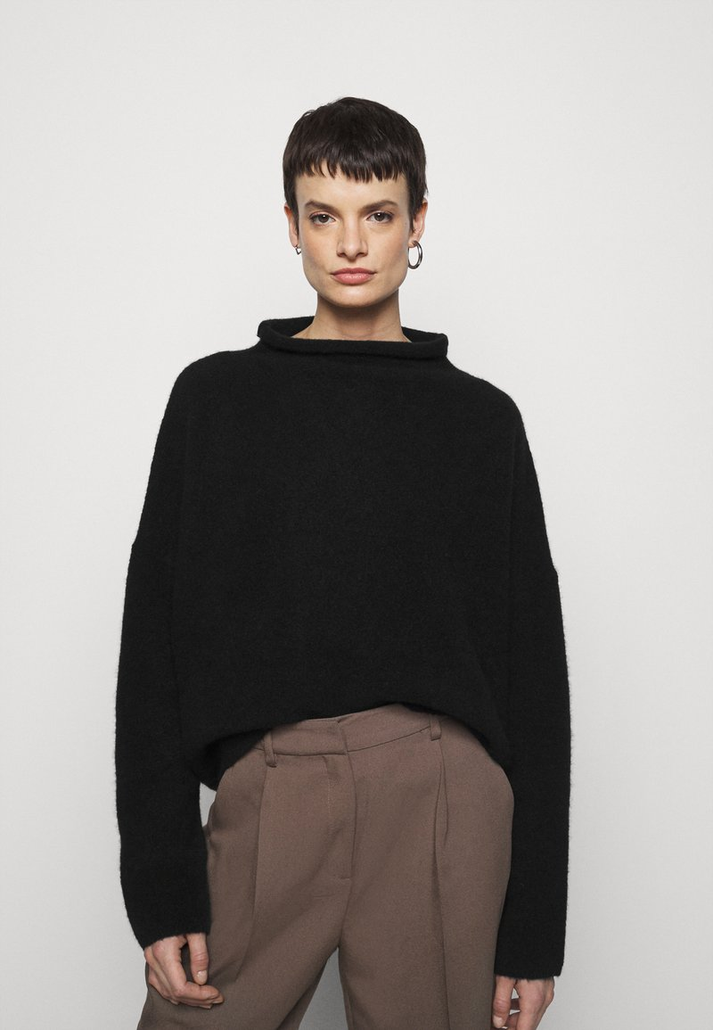 Filippa K - MIKA FUNNEL NECK - Jumper - black
