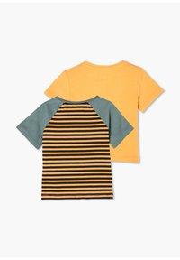 s.Oliver - 2 PACK - Print T-shirt - orange stripes/orange - 1