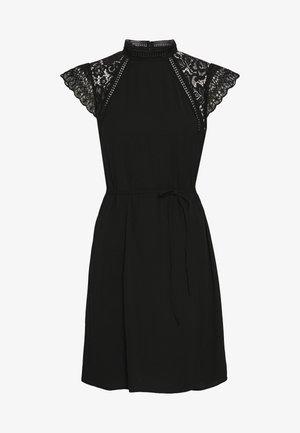 VMPOVLA CAP SLEEVE SHORT WVN - Day dress - black