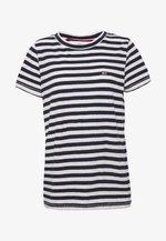 TEXTURED STRIPE TEE - T-shirt imprimé - twilight navy / white