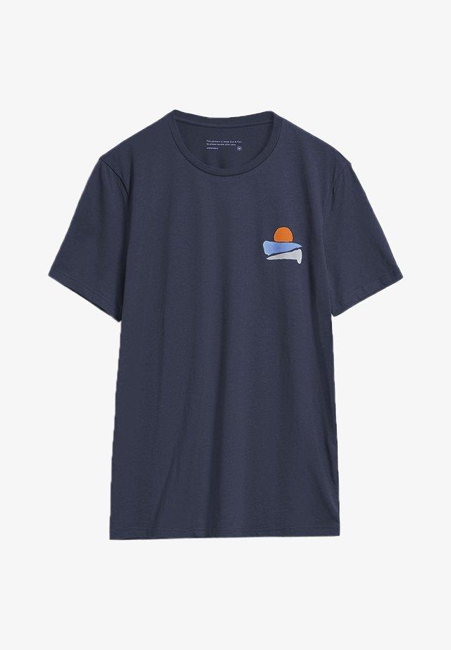 JAAMES SUNSET - T-shirt print - depth navy