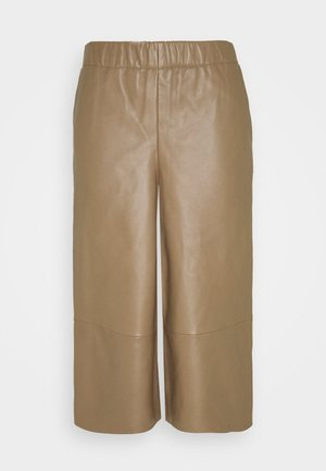CULLOTE - Leather trousers - camel