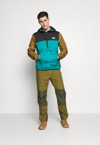 The North Face - MENS FANORAK - Veste coupe-vent - teal/black/khaki - 1