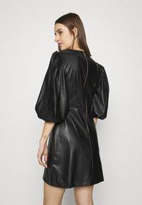 Closet - CLOSET PUFF SLEEVE MINI DRESS - Day dress - black - 2